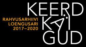 """Rahvusarhiivi püsiekspositsiooniga """"Keerdkäigud"""" lõimuva loengusarja logo"""