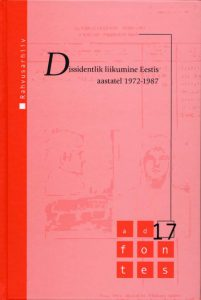 Dissidentlik liikumine Eestis aastatel 1972–1987
