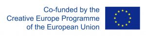 Euroopa Liidu logo. Co-funded by the Creative Europe Programme of the European Union