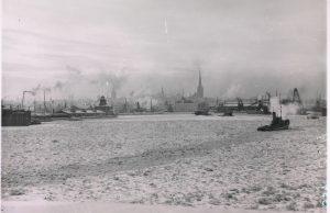 Vaade Tallinna sadamale