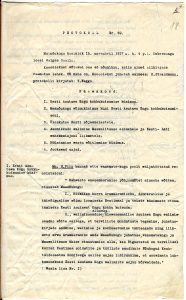 Maanõukogu 1917. aasta 15. (28.) novembri protokoll