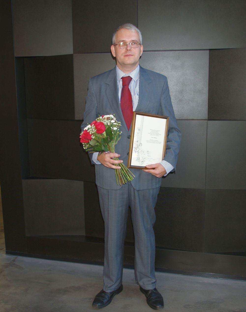 Rahvusarhiivi tudengipreemia võitja Toivo Kikkas